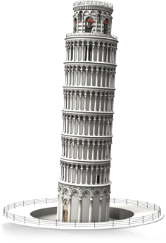 Leaning Tower of Pisa illustrating the importance of usability testing