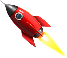 Rocket illustrating our powerful, custom built software