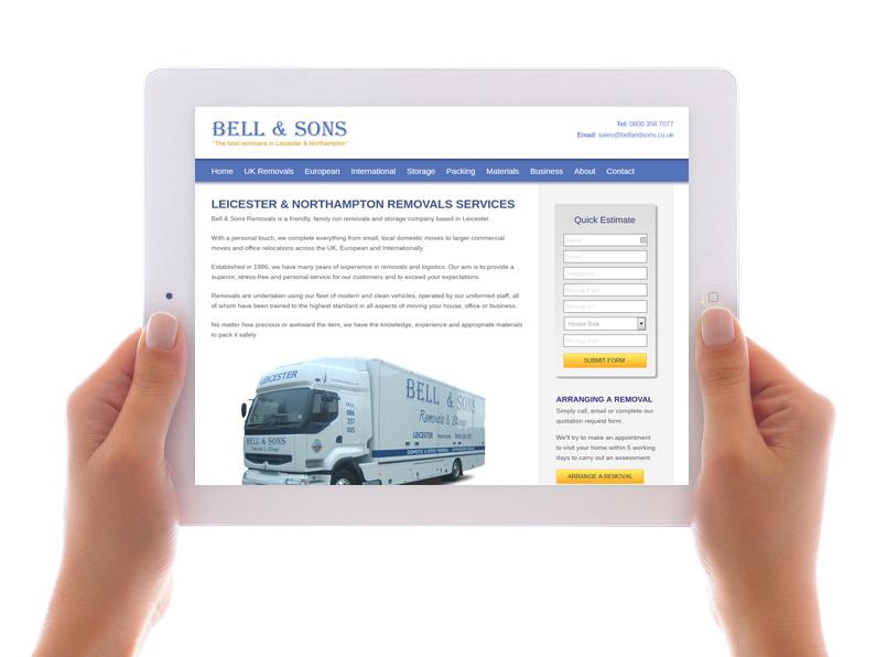 Bell & Sons' website
